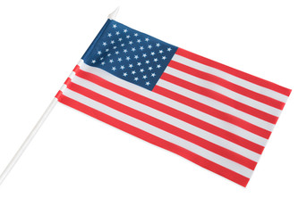 The American flag is isolated on a white background.