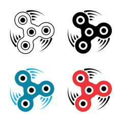 Hand spinner or fidget icon