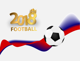 football cup 2018 design of a stylish background vector illustration.