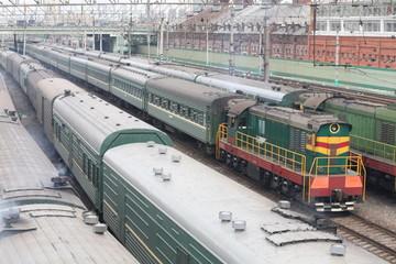 trains on rails