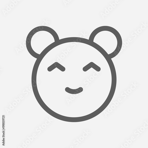 Anime cartoon kawaii icon line symbol  Isolated vector illustration