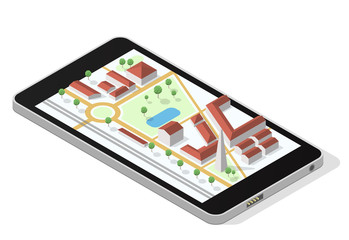 Map on smartphone screen