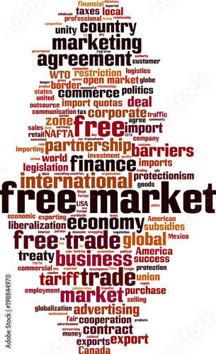 Free Market Word Cloud Stock Image And Royalty Free Vector Files On