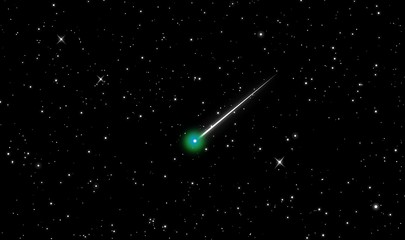 Comet Lovejoy in the universe