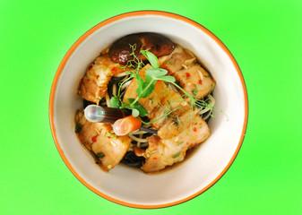 asian food in bowl
