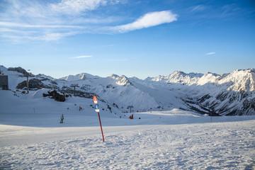 Panorama of the Austrian ski resort Ischgl