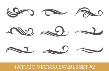 Calligraphic Swirls Set
