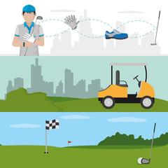 Golf player cartoon