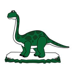 Big dinosaur cartoon vector illustration graphic design