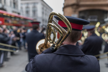 Salvation Army Easter Sunday Parade, Oxford Street and Regent Street, Central London