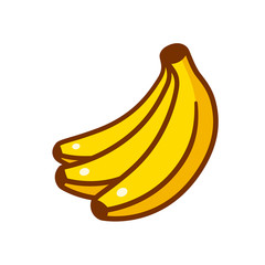 Cartoon bananas illustration