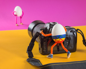 Easter egg photographer in professional studio