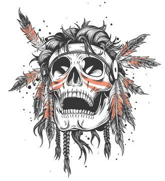 Indian Skull Illustration