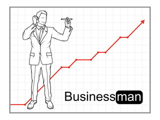 Businessman character. Business concept. Business man in formal suit.