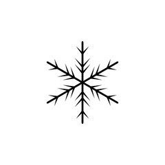 snowflake icon. Element of weather icon. Premium quality graphic design. Signs and symbols collection icon for websites, web design, mobile app