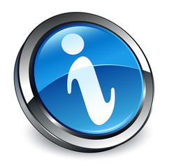 Info icon 3d blue round button