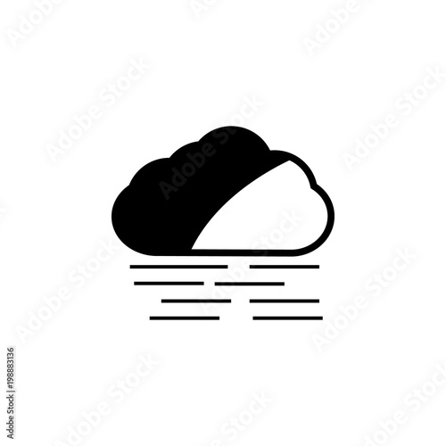 A Cloud With A Wind Icon Element Of Weather Icon Premium Quality