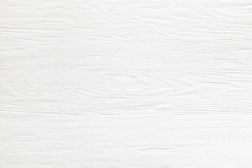Wooden surface covered with white paint. White background, texture.