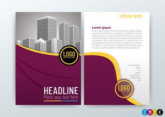 A4 Size, Abstract modern Background Creative Design, Business Brochure Corporate Concept, Template Flyer Layout, Annual Report, Vector Illustration