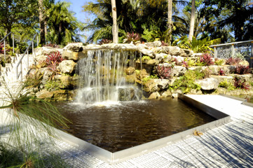 Waterfalls at the Garden / Waterfall at the Botanical Gardens located in West Pal Beach, Florida