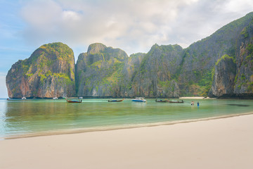 Amazing Maya beach at sunrise, Krabi, Thailand