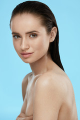 Skin Beauty. Beautiful Woman With Healthy Body And Face Skin