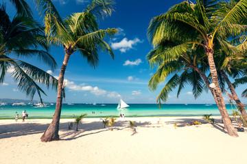 Tropical landscape of Boracay island, Philippines