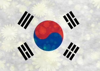 Illustraion of Korean Flag