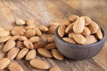 Tasty almonds nuts - Prunus dulcis