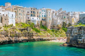 Scenic sight in Polignano a Mare, Bari Province, Apulia (Puglia), southern Italy. Wall mural