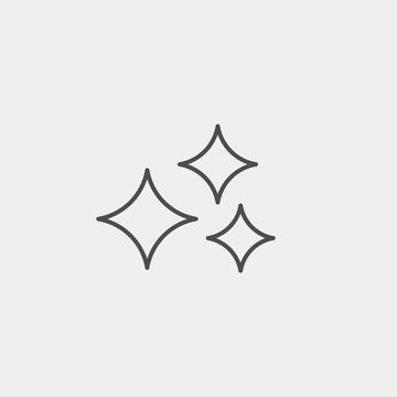 Clean flat vector icon. Shine flat vector icon
