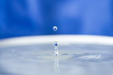 splash droplet water as artistic background, liquid drop