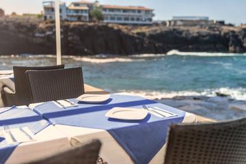 mediteranes Strandrestaurant in El Cotillo auf Fuerteventura / Kanaren