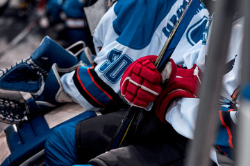 hockey match closeup
