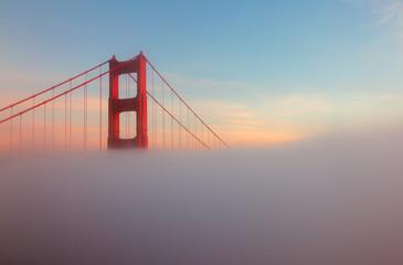 Foggy Golden Gate Bridge