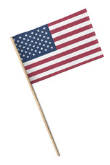 Mini American Flag isolated on white