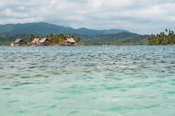 kuna village on island, San Blas, Guna Yala, Panama