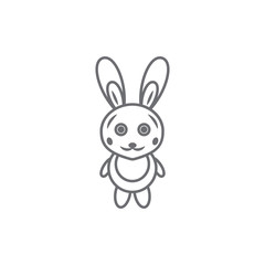 Easter rabbit icon. Simple element illustration. Easter rabbit symbol design template. Can be used for web and mobile