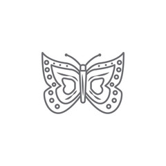 Easter Butterfly icon. Simple element illustration. Easter butterfly symbol design template. Can be used for web and mobile