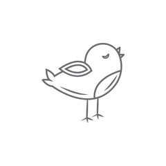 Easter cute chicken icon. Simple element illustration. Easter cute chicken symbol design template. Can be used for web and mobile