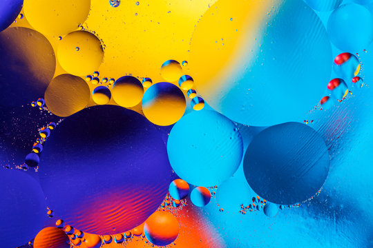 Scientific image of cell membrane. Macro up of liquid substances. Abstract molecule atom sctructure. Water bubbles. Macro shot of air or molecule. Biology, phycics or chymistry abstract background.