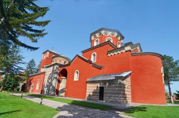 Poster Monument Zica Monastery In Kraljevo, Serbia