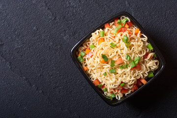Instant noodles in bowl