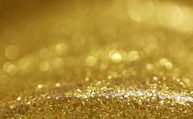 glitter vintage lights background gold silver blue