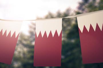 Bahrain flag pennants