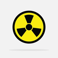 ionizing symbol vector icon danger industrial sign