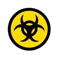 biohazard danger vector icon symbol