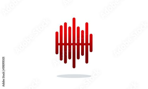 sound wave vector illustration modern pulse heartbeat designs rh fotolia com