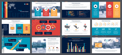 elements of infographics for presentations templates annual report