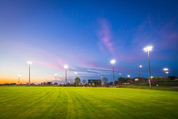 Baseball Field Sunset